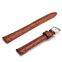 Unisex Genuine Leather Watch Strap 14MM(Brown)