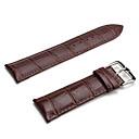 Unisex Genuine Leather Watch Strap 24MM(Brown)