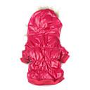 Abrigo de Algodón Con Capucha Para Perritos (XS-XL, Rojo)