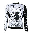 Kooplus Quick Dry Mens Long Sleeve Cycling Jersey (Spider Design)