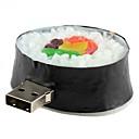 16GB Rounded Sushi-Shaped USB 2.0 Flash Drive (Black)