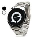 Mens Steel Analog Quartz Wrist Watch (Silver)
