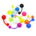Colorful Acrylic Navel/Ear Piercing(Assorted Color)
