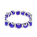 Eye Pattern Colored Glaze Bracelet
