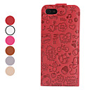Cartoon Pattern Folding Leather Case for iPhone 5/5S (Assorted Colors)