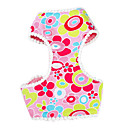 Flowery Pattern Harness and 120cm Leash for Dogs (Assorted sizes)