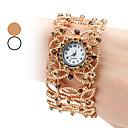 Womens Alloy Analog Quartz Bracelet Watch (Assorted Colors)