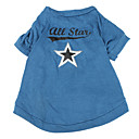 Five Point Star Pattern Cotton Pet T-Shirt for Dogs(XS-M)