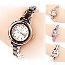 Womens Alloy Analog Quartz Bracelet Watch (Gold)