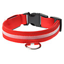 Adjustable High Quality Nylon LED Collar for Dogs (Red)