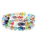 3 Layer Coloured Glaze Crystal Bracelet