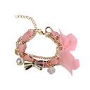 Chiffon Chain Bowknot Pendant Bracelet