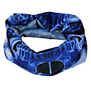 Fashion Designed Cycling Scarf with Blue Skeleton Pattern