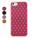 Grid Pattern Hard Case with Shining Rhinestone for iPhone 5/5S (Assorted Colors)