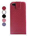 Straw Mat Pattern PU Leather Case for iPhone 5/5S (Assorted Colors)