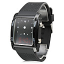 Digital  Analog Dual-Time Mens Wrist Watch with Weekday Display - Black (2CR1120)