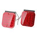 Multifunzionale Rettangolo modello LED antifog Attenzione auto fanali laterali Fanali posteriori (2 pezzi)