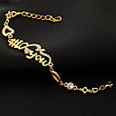 I LOVE YOU Letters 18K Gold Plated Cute Bracelets Bangle For Women High Quality Statement Jewelry