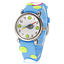 Childrens Little Round Dial 3D Tennis Patern Silicone Band Quartz Analog Wrist Watch (Assorted Colors)