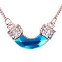 U Shaped Crystal Pendant Necklace(Assorted Color)