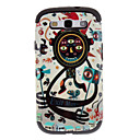 Long Arms Cartoon Man Pattern Detachable TPU and Plastic Back Cover Case for Samsung Galaxy S3 I9300