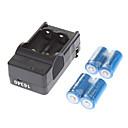 US Plug UltraFire 16340 Battery Charger w/ 4 x 3.6V 1000mAh 16340 Batteries - Black