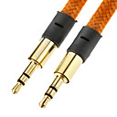 3.5mm Male to Male Flat Type Cable Brown(1M)