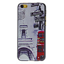 Eiffel Tower and Red Bus Pattern Hard Case for iPhone 5C
