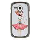 Nationality Girl Drawing Pattern Protective Hard Back Cover Case for Samsung Galaxy S3 Mini I8190