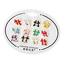 Cross Stud Earrings(Random Color)