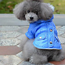 Lovely Two-pocket Warm Coat with Hoodie for Pet Dogs (Assorted Colors, Sizes)