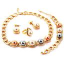 Quality 18K Gold Plated Costume Jewelry Sets Austrian SWA Rhinestone Jewellery With Gift Box