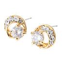 Crystal Golden Plated Stud Earrings
