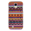 Purple Weaving Cotton Cloth Pattern Protective Hard Back Cover Case for Samsung Galaxy S4 I9500