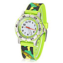 Army Watch Infantil Style Round Dial banda de silicona de cuarzo analógico de pulsera (colores surtidos)