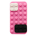 Building Block Shape Silicon Case for iPhone 4/4S (Assorted Colors)