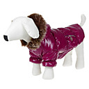 Lovely Smooth Two Zippers Warm Coat with Hoodie for Pets Dogs (Assorted Colors, Sizes)
