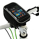 ROSWHEEL Portable Bicycle Front Bag with Case for Mobile Phone Less Than 5