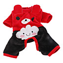 Cute Bear Costume Warm Fleece  Four-legged Pants for Pets Dogs (Assorted Colors, Sizes)