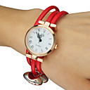 Womens Candy colors PU Band Quartz Analog Bracelet Watch (Assorted Colors)