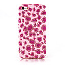 Pink Leopard Print Textile Cloth Art Back Case for iPhone 12C