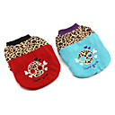 Stylish Cotton Padded Skull Leopard Print Round Collar Warm Coats for Pets Dogs (Assorted Colors, Sizes)