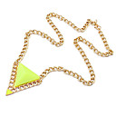 BaoGuangEuropean Style Triangle Pendant Necklace