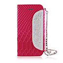 Zircon Chain Crocodile Grain Leather Full Body Case for iPhone 5/5S(Assorted Color)