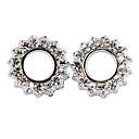Fashion Silver Crystal Stud Earrings(Silver) (1 Pair)