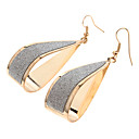 (1 Pair)Fashion  Gold Alloy Drop Earrings(Gold)