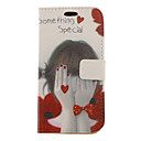 Shy Girl Drawing Pattern Faux Leather Hard Plastic Cover Pouches for Samsung Galaxy S3 I9300