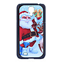 Father Christmas Deer Grind Arenaceous Plastic Back Case for Samsung Galaxy S4 I9500