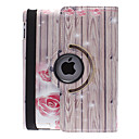Special Design Board and Rose Pattern 360 Degree Rotatable PU Leather Full Body Case with Stand for iPad 2/3/4
