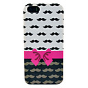 Bowknot  Mustache Soft Imd TPU Cover for iPhone 5S